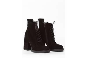 Ботинки женские замшевые Wright 8053SHNUROK 40 черные