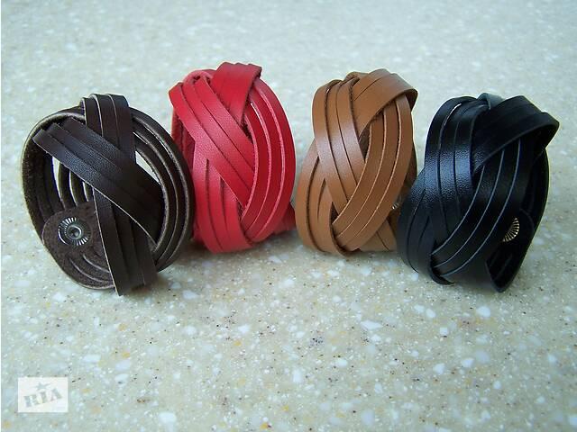 Браслет кожаный плетеный- объявление о продаже  в Мелитополе