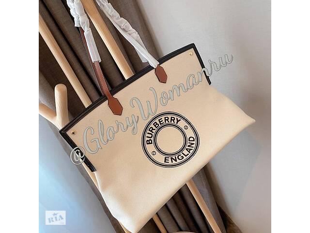 бу Burberry сумка тоут Society с логотипом в Киеве