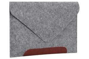 Чехол для ноутбука Gmakin для MacBook Pro 13'' Grey/Brown (GM10-13New)