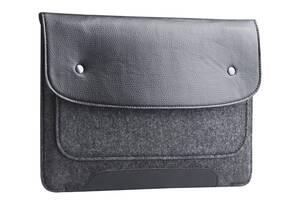 "Чехол для ноутбука Gmakin для Macbook Pro 15"" Black/Grey (GM01-15)"