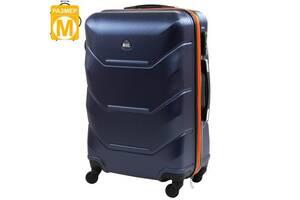 Чемодан Rogal Чемодан средний на 4-х колесах ROGAL  RGL720M-dark-blue-orange