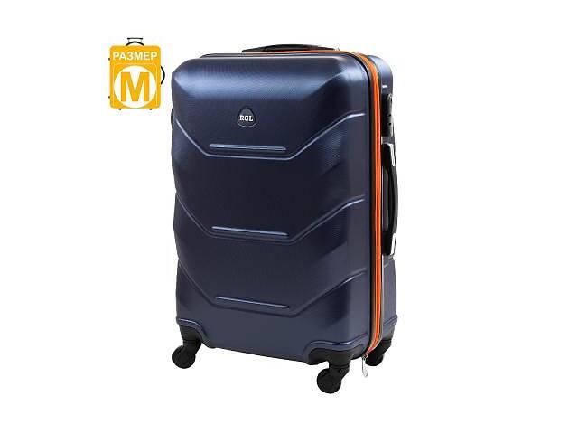 купить бу Чемодан Rogal Чемодан средний на 4-х колесах ROGAL  RGL720M-dark-blue-orange в Одессе