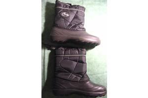 Чорні зимові чоботи пінка 40 26 широкі
