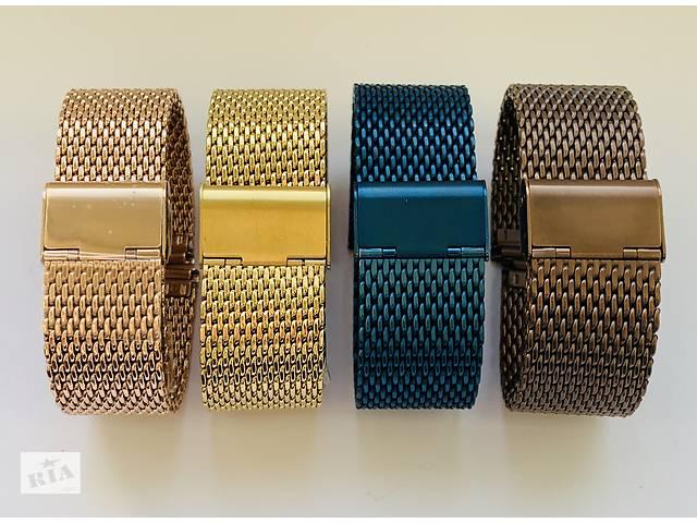 Черный золотой браслет ремешок Huawei на часы для Casio, Garmin, SMART, Samsung Gear, Moto 360, iWatch,Смарт,Orient - объявление о продаже  в Киеве