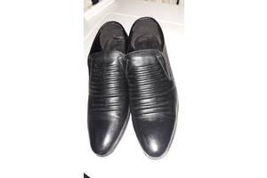 Чоловічі шкіряні чорні туфлі, 43 розмір
