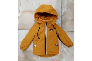 Демисезонная термо куртка - парка для мальчиков 1 - 8 лет, цвета разные