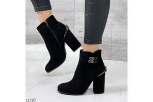 Демисезонные ботинки на каблуке, нарядные ботинки каблук, осенние ботинки, черевики 36-41р код 11796
