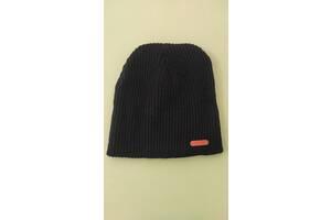 Детская модная демисезонная шапочка чёрного цвета
