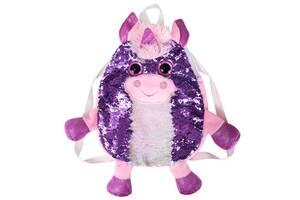 """Детская сумка-рюкзак на шлейках с пайетками Fancy """"Единорог"""""""