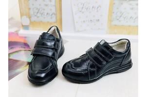 Детские кожаные кроссовки-туфли