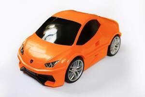 Детский дорожный чемодан-машина Гонка Kids Travel Case Оранжевый
