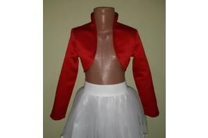 Детское красное атласное болеро, модель № 53