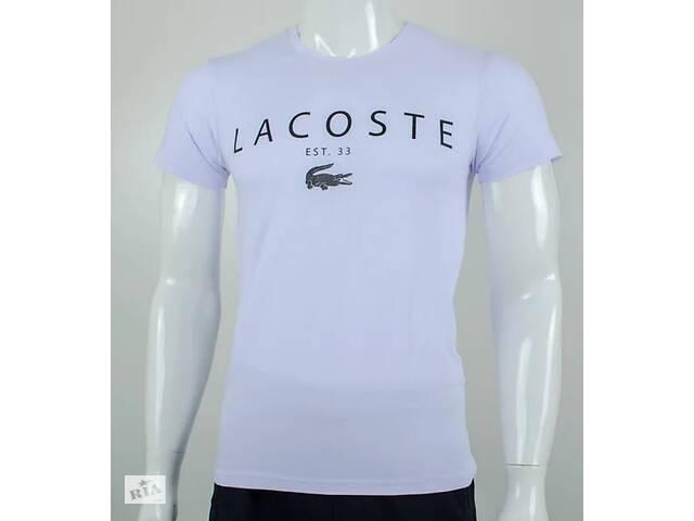 купить бу Футболка мужская, принт Lacoste, цвет белый в Киеве