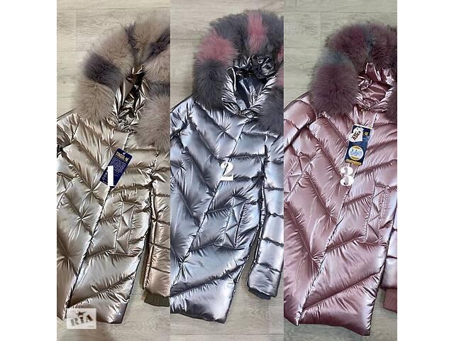 купить бу Классное зимнее пальто Бархат с натуральной опушкой теплющее до минус 30 градусов 34-44р в Харькове