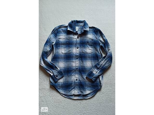 Клетчатая рубашка от gap на 11-12 лет