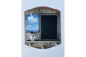 Ключниця настінна з дошкою для заміток і затискачем під фото SKL32-276046
