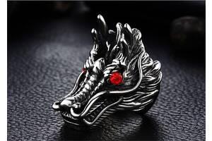 Кольцо Голова дракона для байкеров, рокеров панков