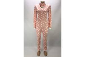 Комбинезон пижама Кигуруми женский на молнии 44-46 р. в горох Розовый (zolk_G-9593-44-46)