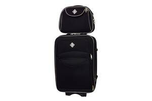 Комплект чемодан + кейс Bonro Style (средний) черный