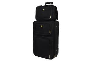 Комплект чемодан + сумка  Bonro Best средний черный