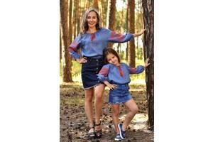 Комплект вишиванок для мами і доньки з натуральної тканини