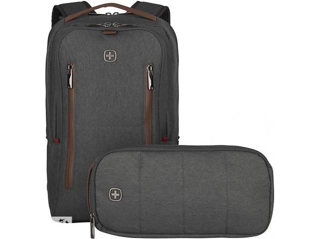 купить бу Комплект Wenger City Upgrade 606489 рюкзак и сумка, серый в Киеве