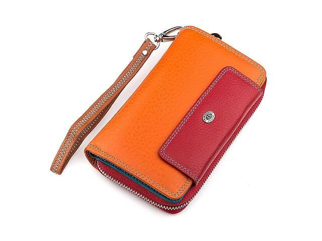 купить бу Кошелек женский ST Leather 18441 (SB55-5) вместительный красный в Киеве