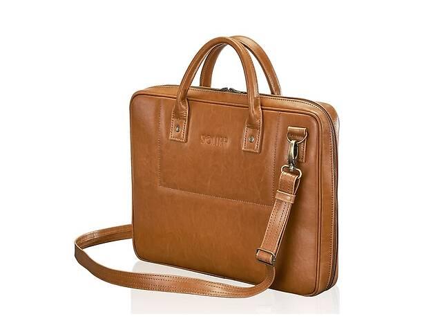 Кожаная сумка для ноутбука коричневая 15.6 BELFAST SlrSL21CAMEL- объявление о продаже  в Киеве