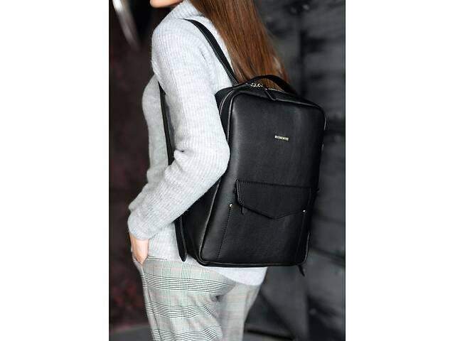 Кожаный городской рюкзак на молнии Cooper, нуар BlnkntBN-BAG-19-noir- объявление о продаже  в Киеве