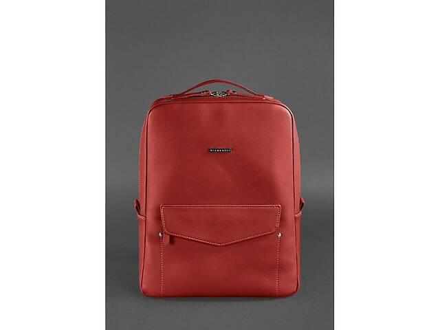 Кожаный городской женский рюкзак на молнии Cooper красный BlnkntBN-BAG-19-red- объявление о продаже  в Киеве