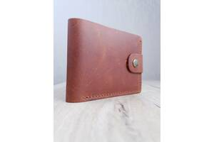 Кожаный мужской кошелек ROMIO (CCHBr-2020) Коричневый