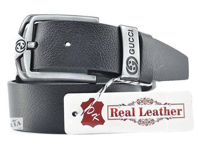 Кожаный ремень Belstore t0281, 4 см, черный- объявление о продаже  в Киеве