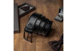 Кожаный ремень мужской для брюк Always Wild черный 3,4 см CvldPWN01SO