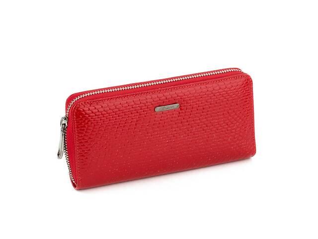 бу Кожаный женский клатч-кошелек Наплак Красный (Kpw_02_red_reptile) в Одессе