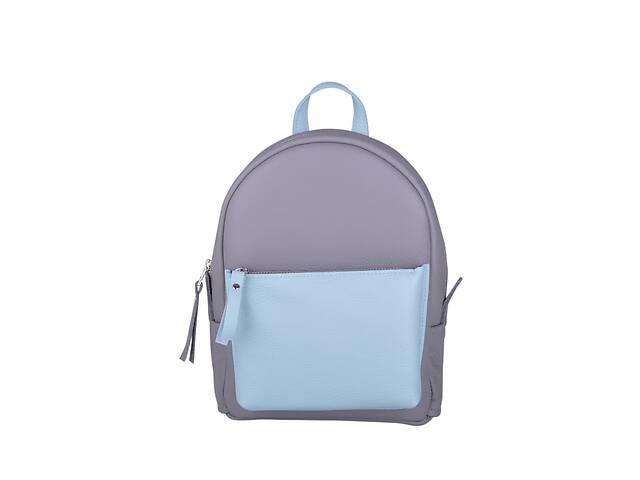продам Кожаный женский рюкзак Sport Double New (серый/синий) JzzSP292310GADO бу в Киеве