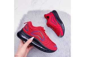Красные женские текстильные кроссовки в стиле Nike Air 36,39-41р