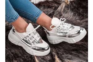 Крутые белые женские кроссовки. 36-40р