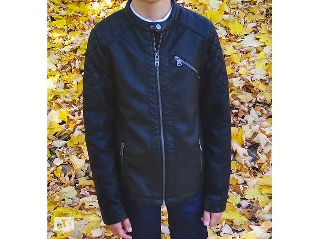 Куртка для мальчика кожаная- объявление о продаже  в Тернополе