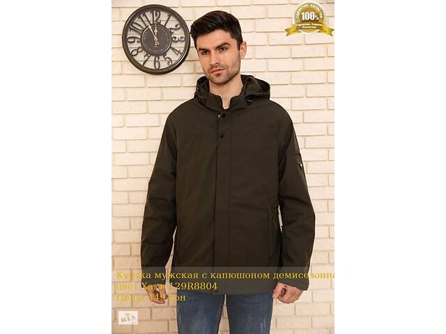 продам Куртка чоловіча з капюшоном демісезонна колір Хакі 129R8804 бу в Харкові