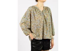 Летняя хлопковая блузка с цветочным принтом рукав 3/4 Universal Thread Размер: L