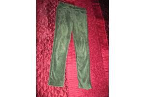 Лосины зеленые вельвет в резиночку