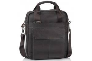Мужская кожаная сумка Tiding Bag, коричневый