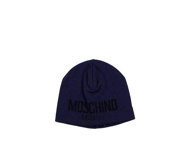 Мужская шапка Moschino 60051 Темно-синяя (2900056550017)- объявление о продаже  в Киеве