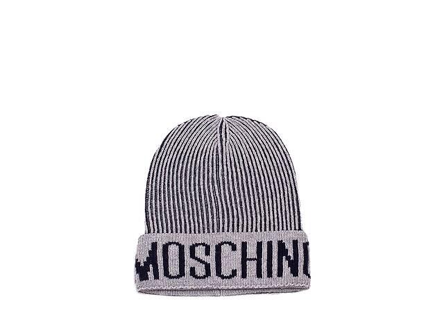 Мужская шапка Moschino 60051 Серая (2900056551014)- объявление о продаже  в Киеве