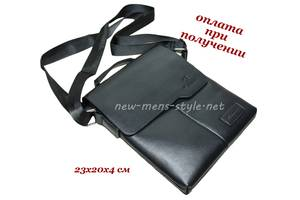 Мужская стильная кожаная сумка барсетка борсетка через плечо BinWei