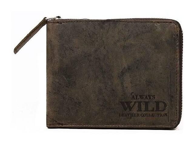 продам Мужское кожаное портмоне ALWAYS WILD N992AZB коричневое бу в Киеве