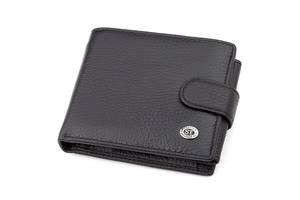 Мужской кошелек ST Leather 18334 (ST102) натуральная кожа черный