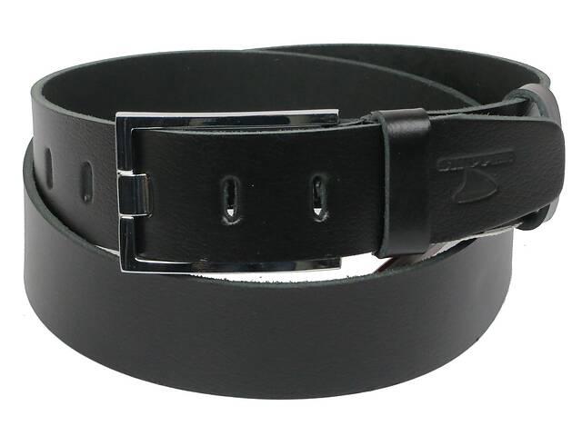 Мужской кожаный ремень под джинсы Skipper 1158-45 черный ДхШ: 132х4,5 см.- объявление о продаже  в Киеве