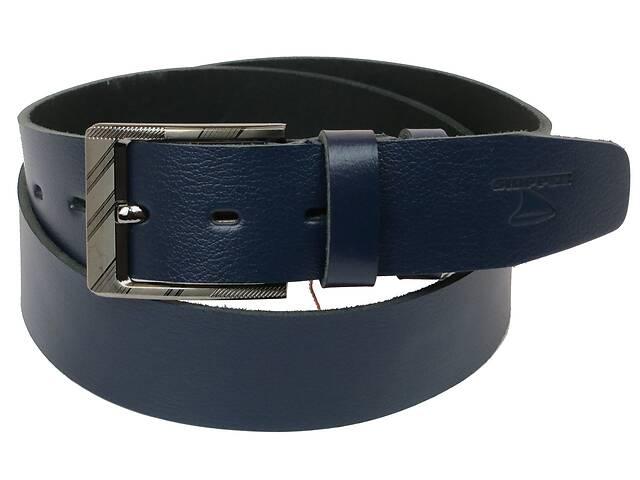 Мужской кожаный ремень под джинсы Skipper 1169-45 синий ДхШ: 130х4,5 см.- объявление о продаже  в Киеве